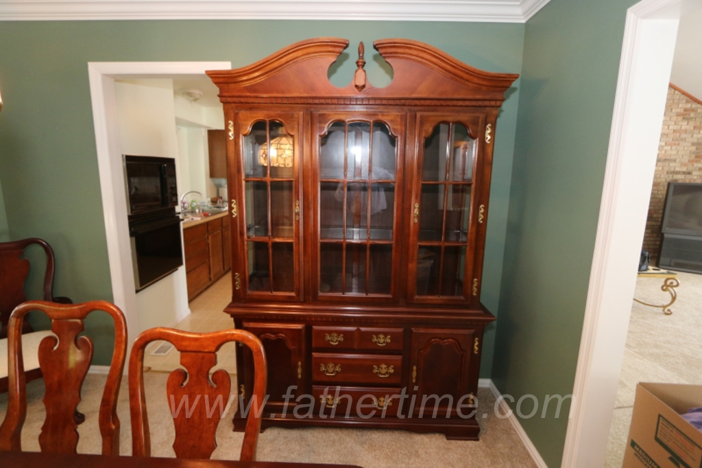 classic federal style china hutch, cherrywood china hutch, st. louis auctions, MO auctioneer, father time auctions