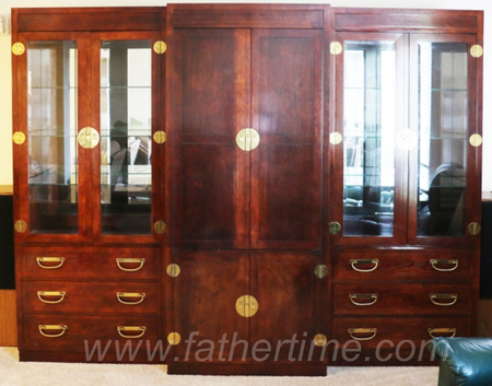 Asian style display and entertainment cabinet, Mahogany finish, father time auctions st. louis MO, father time auctions IL, online auctions st. louis MO