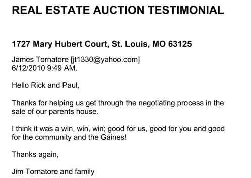 father time auctions in st. louis, rick bauer in st. louis MO, richard kloeckener in southern IL, online bidding auctions