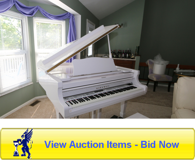 kurzweil acoustic baby grand piano, st. louis auction, southern IL auctions, father time auctions in st. louis, auctions in st. louis, auctions in southern IL
